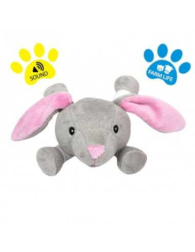DOG LIFE STYLE Peluche Sonore Lapin 12.5cm